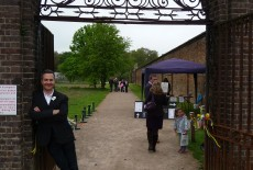 Justin at the Luton Hoo walled garden